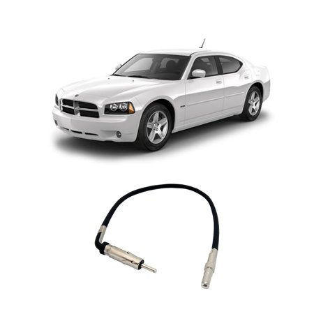 Dodge Factory Radio - Dodge Charger 2005-2007 Factory Stereo to Aftermarket Radio Antenna Adapter Plug