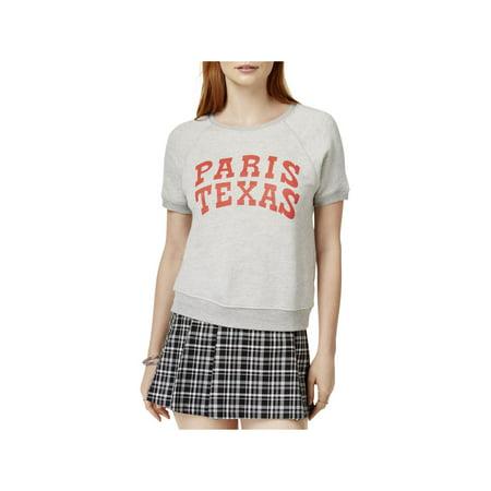 Ban.do Womens Paris Texas Knit Graphic Sweatshirt
