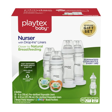 Playtex Baby Nurser With Drop-Ins Liners Baby Bottle Gift Set