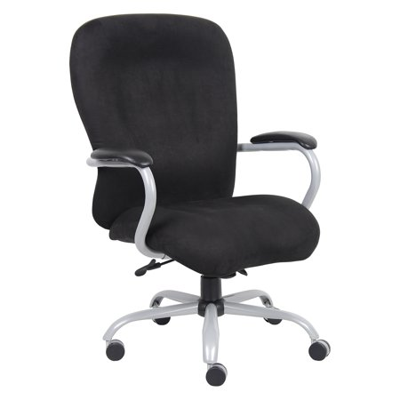 big man 39 s office chair black microfiber 350 lb capacity walmart