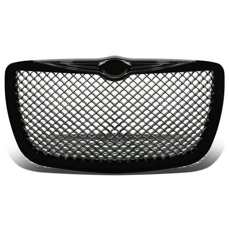 For 05-10 Chrysler 300/300C ABS Plastic Mesh Front Bumper Grille (Black) - 1st Gen 06 07 08 09 - Aps Mesh
