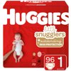 HUGGIES Little Snugglers Diapers Size 1, 96 Count