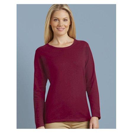 217ea740e3 Gildan - Gildan T-Shirts - Long Sleeve Heavy Cotton Women s Long Sleeve T- Shirt - Walmart.com