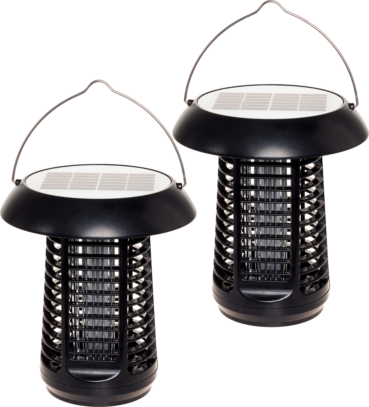 2 Pack Greenlighting 1200V Solar Powered Outdoor Bug Zapper Insect Killer Lamp by GreenLighting