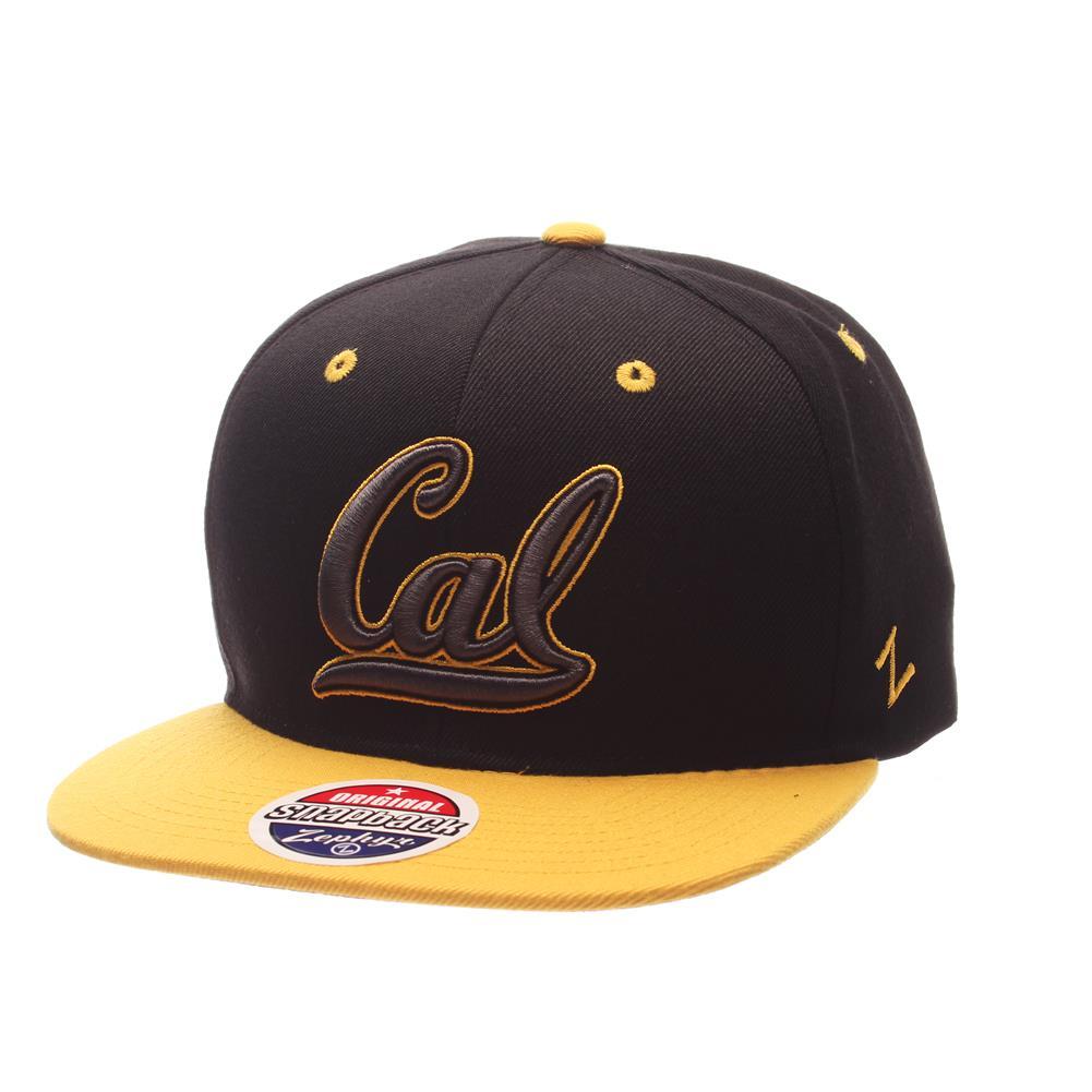 Cal Berkeley Golden Bears Snapback Hat Zephyr Z11 Phantom Black Cap