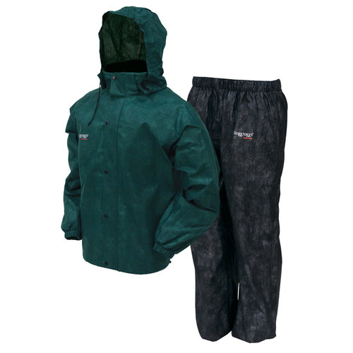 Frogg Toggs All Sport Rain Suit Green Black XL, AS1310-109XL by Frogg Toggs