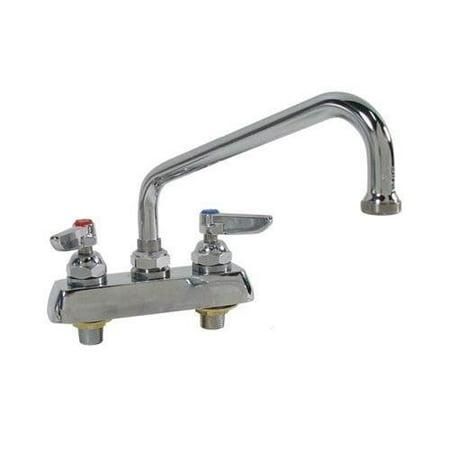 T&S Brass B-1113-XS Work Board Faucet, Deck Mount, 4