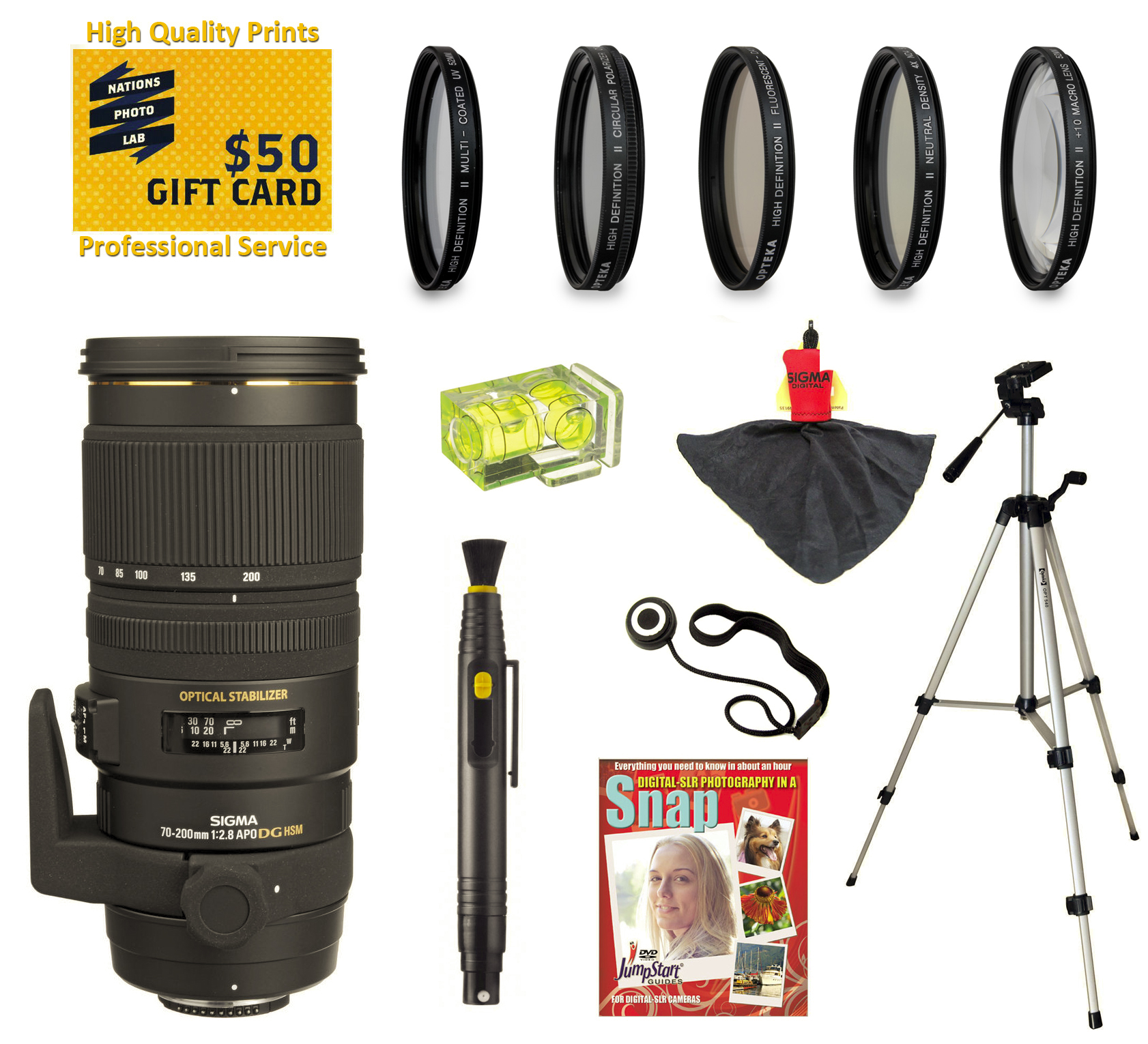 Sigma 70 200mm F 28 Apo Ex Dg Hsm Os Fld Large Aperture Telephoto Af Zoom Lens With Uv Cpl Nd4 10 Macro Filters And Kit For Sony Alpha A99 A77 A65