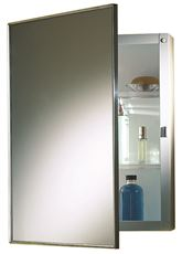 NUTONE RECESSED SWING-DOOR MEDICINE CABINET, 16 IN. X 22 IN., POLISHED STAINLESS STEEL... by NATIONAL BRAND ALTERNATIVE