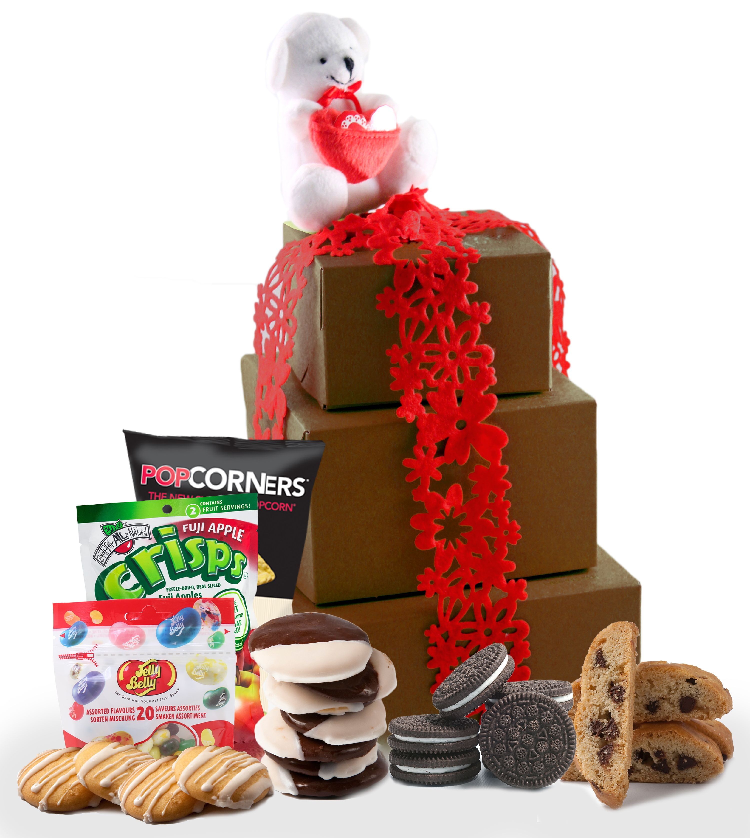 XOXO! Valentine's Day Gluten Free Large Gift Tower, 2 Lb.