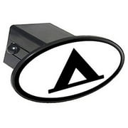 """Camp Camping Tent Sign Symbol 2"""" Oval Tow Trailer Hitch Cover Plug Insert"""