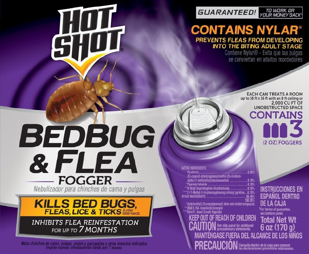 Hot Shot Bedbug & Flea Fogger, 3 2-oz by Spectrum Brands