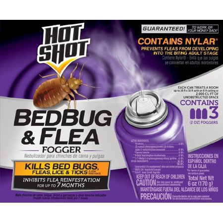 Hot Shot Bedbug & Flea Fogger, 3-2-oz (Best Stuff To Kill Fleas In House)