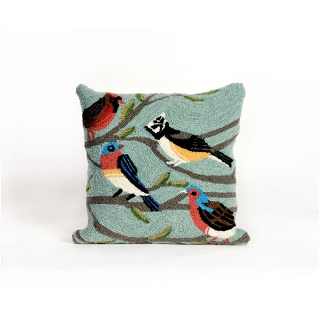 TransOceanImports 7FP8S144003 Frontporch Birds Sky Square Pillow