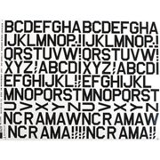 429PB Pressure Decal Alphabet Black 1""