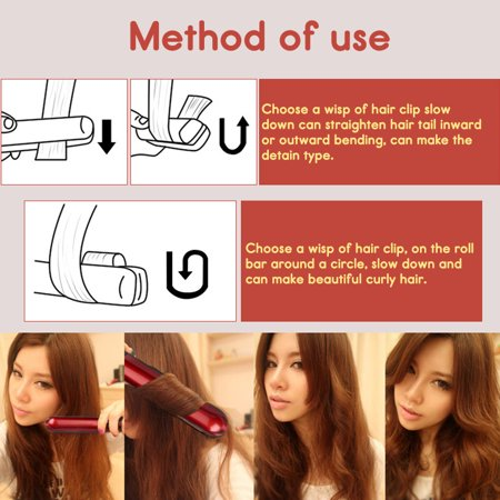 120-200℃ Hair Straightener Curling Iron Hair Styling Curler Quick Hair Style LCD Display - image 9 de 13