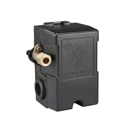 Phoenix Pressure Control 69MB8LY 115/150 PSI 1-Port Air Compressor Switch w/ Unloader Valve & Auto/Off (Furnas type) ()