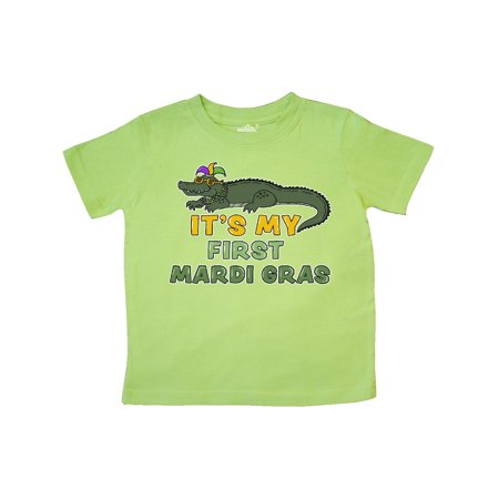 It's My 1st Mardi Gras Crocodile with Hat Toddler T-Shirt