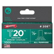 "Arrow Fastener 208 1/2"" T20 Staples"