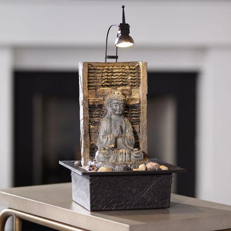 - John Timberland Zen Buddha Tabletop Water Fountain 11 1/2