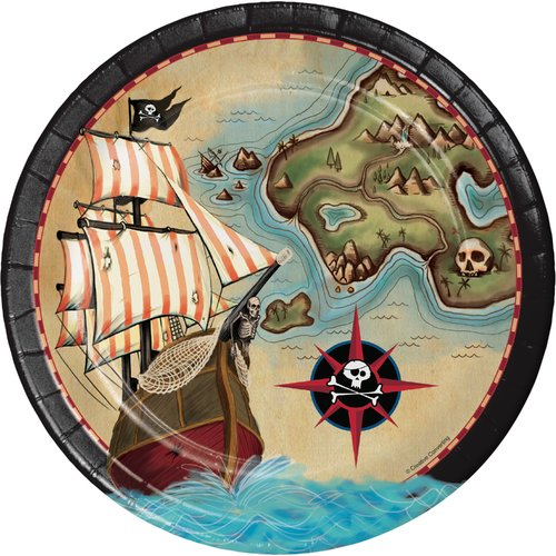 Creative Converting Pirate's Map Paper Plates (Set of 24)