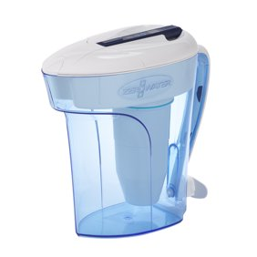 ZeroWater 12 Cup Ready-Pour Filtered Pour-Through Water Pitcher - Blue