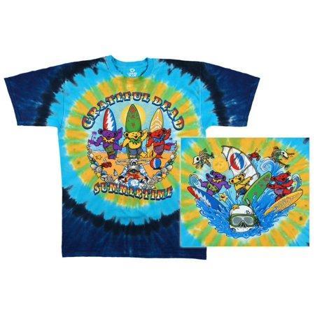 Tie Dye Bleach (Grateful Dead - Beach Bear Bingo Apparel T-Shirt - Tie Dye )