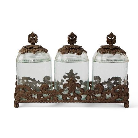 The GG Collection Acanthus 3 Piece Kitchen Canister Set