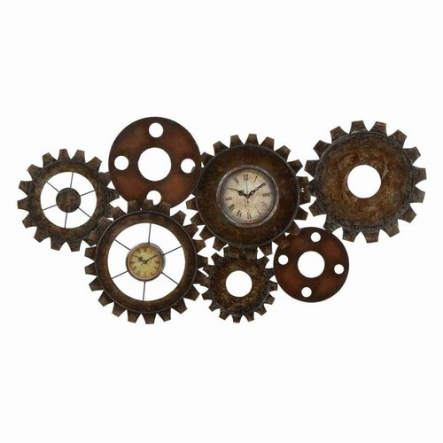 Woodland Imports 13498 Metal Gear Clock by Woodland Imports