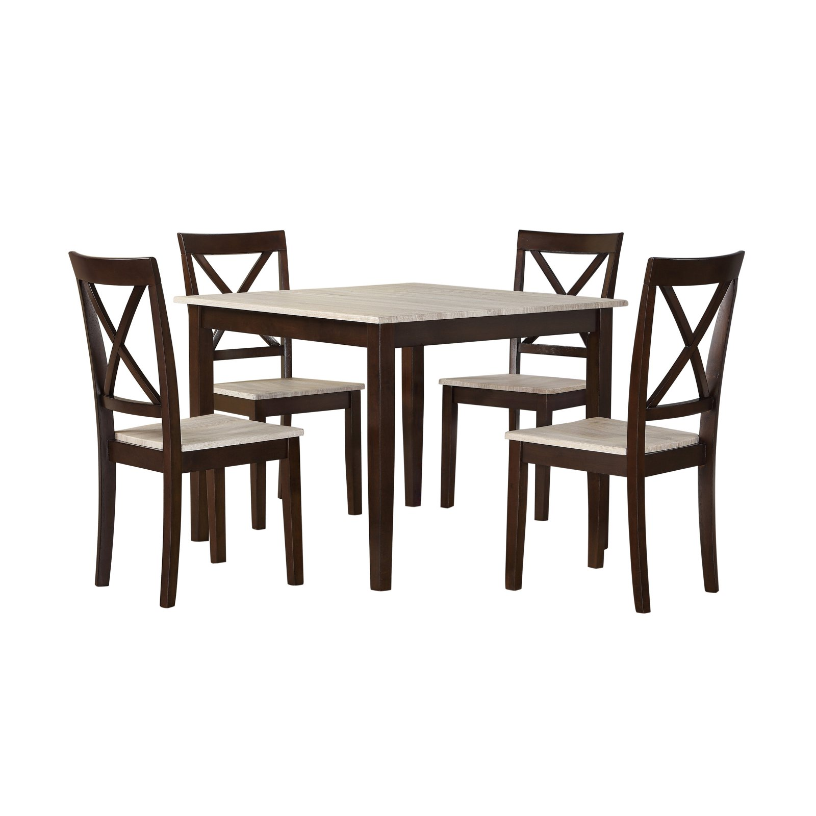 Dorel Living Sunnybrook Rustic 5 Piece Dining Set