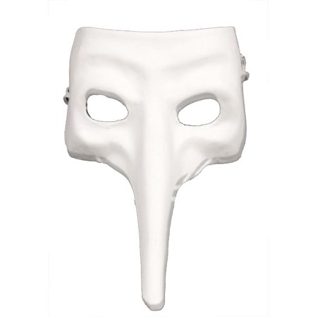 ZANNI STYLE MASK - Plain White Craft Masks - VENETIAN](White Mask For Sale)