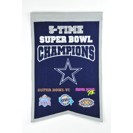 Winning Streak - NFL Champions Super Bowl Banner, Dallas Cowboys Dallas Cowboys Tape Measure