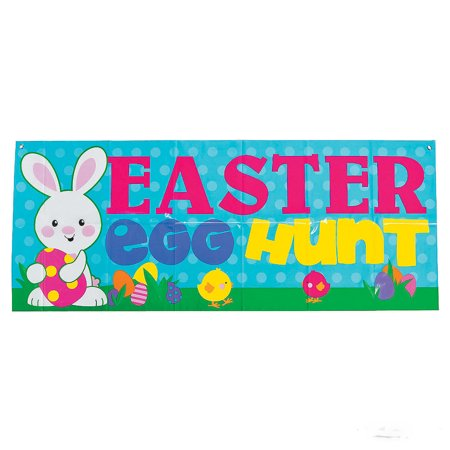 Easter Egg Hunt Plastic Banner