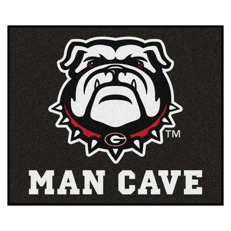 - Georgia Black New Bulldog Man Cave Tailgater Rug 5'x6'