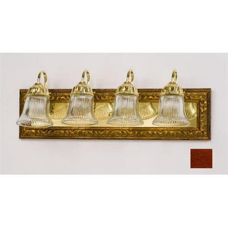 Afina Corporation LT34RARLCE 34 in.Recessed Mount Traditional Light Bar - Arlington Cherry