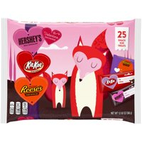 Hershey's, Milk Chocolate, Reese's, & Kit Kat Snack Size Candy Bars Valentine's Exchange, 25 Pieces, 12.92 Oz.