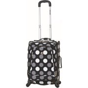 "Rockland Luggage 20"" Spinner Carry-On Suitcase, Black Dot"