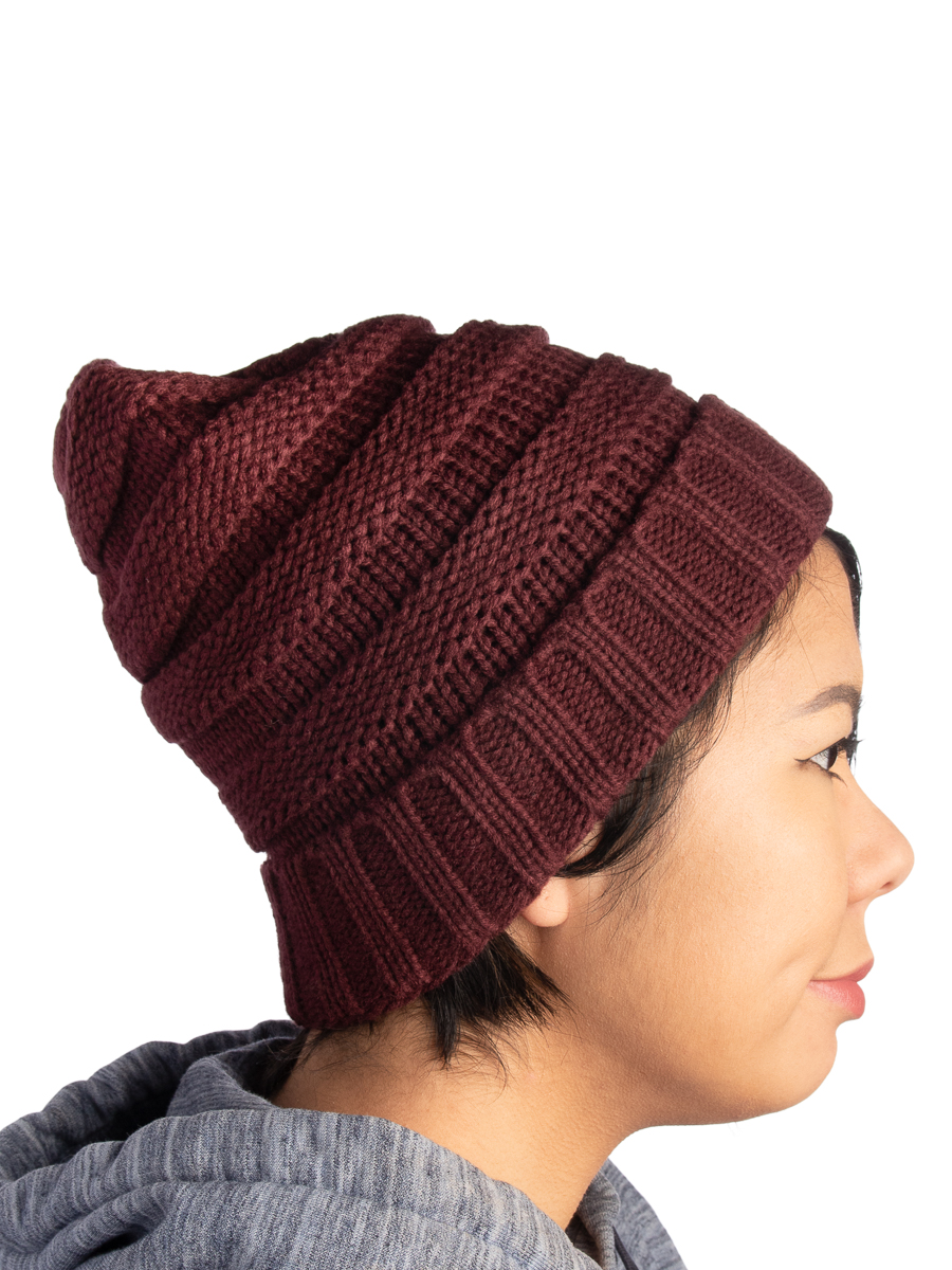 0afb44762 DG Hill Winter Hat For Women Slouchy Beanie Hat Chunky Knit Stocking Cap  Soft Warm Cute
