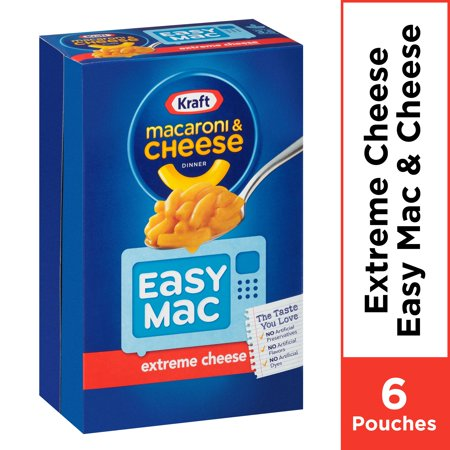 Kraft Easy Mac Extreme Cheese Macaroni and Cheese, 6 ct - 12.9 oz Box ()