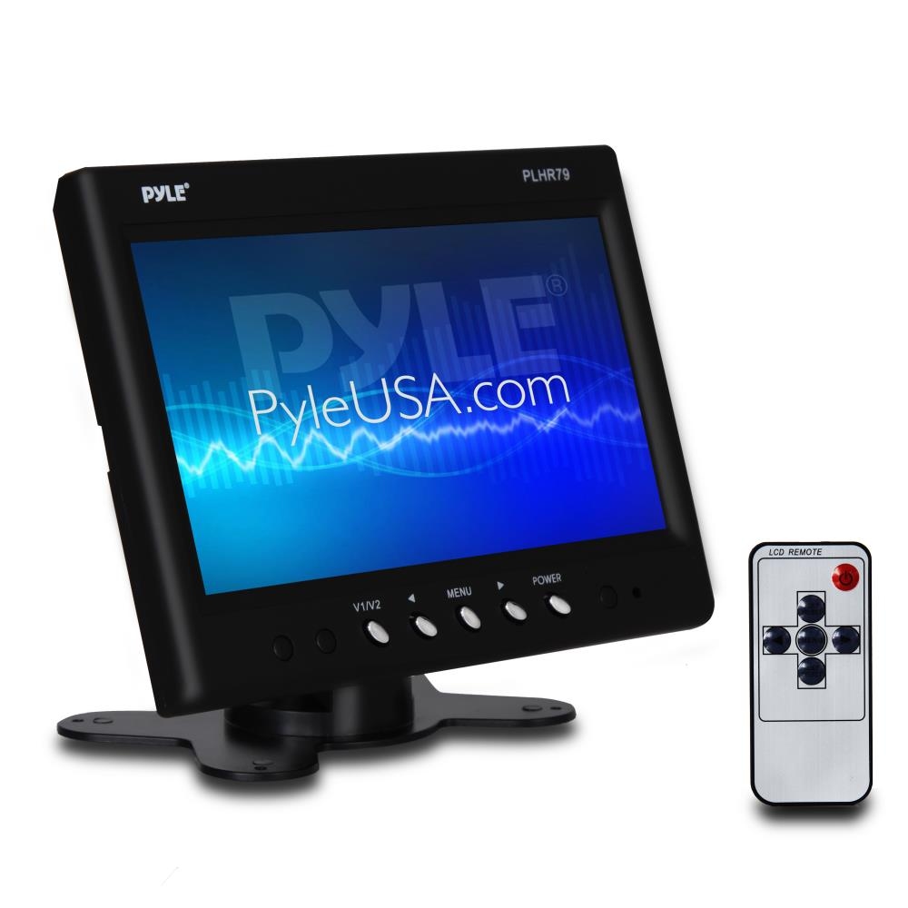 PYLE PLHR79 - Headrest Monitor, 7-inch TFT Widescreen w/ 2 RCA Video Inputs, Wireless Remote, Cold Cathode Light, Headrest Shroud, Universal Stand Mount, Great for Road Trips, Keep Kids Entertained