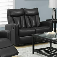 MONARCH - RECLINING - LOVE SEAT BROWN BONDED LEATHER
