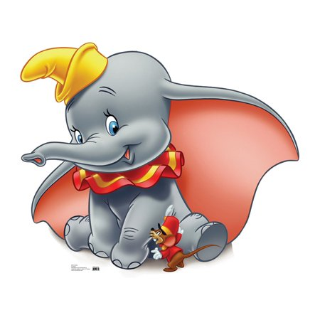 Disney Dumbo Life Size Cutout Stand Large Cardboard Cutout Party Prop Decor Birthday party Supplies, Disney Birthday decoration Size: 36