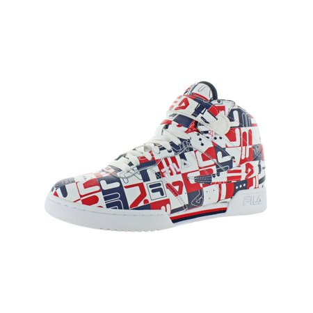 Fila Mens F-13 Archive Print Leather Padded Insole Fashion Sneakers Calfskin Leather Mens Sneakers