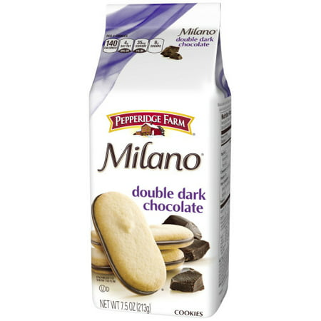 (3 Pack) Pepperidge Farm Milano Double Dark Chocolate Cookies, 7.5 oz. Bag