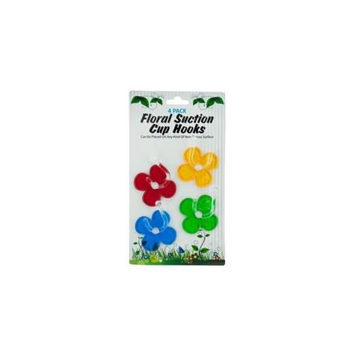 DDI 1346520 4 Pack Floral Suction Cup Hooks