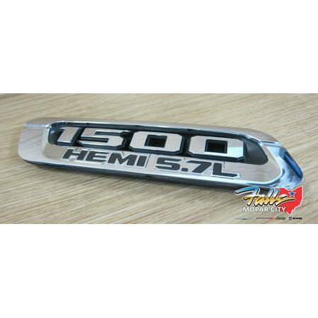 Hemi Hood (19 Dodge Ram 1500 HemI 5.7L Left Chrome Hood Bezel Replacement Mopar OEM )