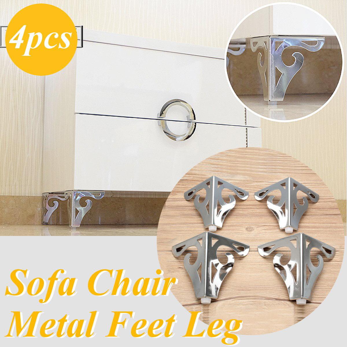 4pcs Cool Pattern Furniture Sofa Chair Metal Feet Legs Restaurant