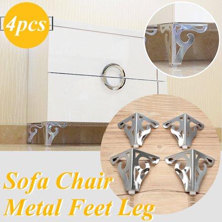 Bendable Legs - 4Pcs Cool Pattern Furniture Sofa Chair Metal Feet Legs Restaurant Home Decor 3.7
