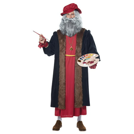 Mens Leonardo Da Vinci Halloween Costume - Time Machine Halloween Costume
