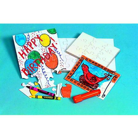 9 Piece Packs - Compoz-A-Puzzle Blank Puzzles 9 Pieces, 4